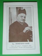 """Sac.DOMENICO MASI Fondatore """"Sorelle Dell'Immacolata"""" San Clemente,Forlì.Miramare,Rimini/guerra 1915'18 /santino - Santini"""