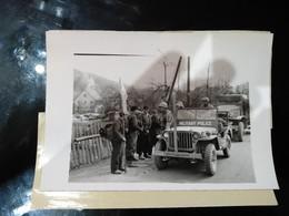 GERMAN NAZI WHITE FLAG BAVARIA 1945 FIELD PRESS CENSOR  US ARMY  FOTO DE PRESSE  Brian L Davis Archive - Guerra, Militares