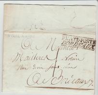 """GIRONDE: Bordeaux """" PETITE POSTE/BORDEAUX """" + TM 1 / LAC De L'AN 11 TB/SUP - Postmark Collection (Covers)"""
