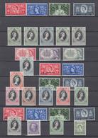 1953 Coronación, Completa 106 Valores   /**/ - Gran Bretaña (antiguas Colonias Y Protectorados)