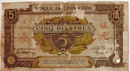 FRENCH INDOCHINA  P. 61 5 Ps 1942 Poor - Indochina