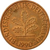 Monnaie, République Fédérale Allemande, 2 Pfennig, 1990, Munich, TTB, Copper - [ 7] 1949-… : FRG - Fed. Rep. Germany