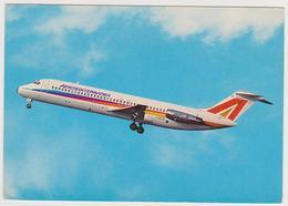[674] AERMEDITERRANEA, DC9 30 SUPER. Official Card. Sent From Basel To France (1985). Voyagée De Bâle En France (1985). - 1946-....: Era Moderna