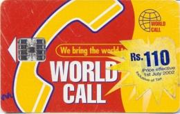 PAKISTAN : WC-06B A Rs.110 (over 99) 'We Bring /Nestle Sticker Glasses USED - Pakistan