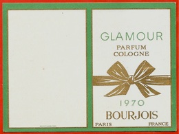 """Petit Calendrier Publicitaire 1970 """"GLAMOUR"""" Parfum Cologne BOURJOIS Paris France ** Pub Publicité - Kalenders"""