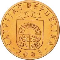 Monnaie, Latvia, Santims, 2003, SPL, Copper Clad Steel, KM:15 - Lettonie