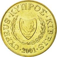 Monnaie, Chypre, 5 Cents, 2001, SPL, Nickel-brass, KM:55.3 - Chypre