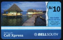 PANAMA PHONECARD PREPAID  BELLSOUTH ISLA COLON BOCAS DEL TORO  B/10 - Panama