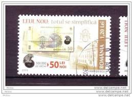 Roumanie, Romania, Monnaie, Billet, Money, Banknote, Aigle, Rapace, Avion, Plane, Eagle - Munten