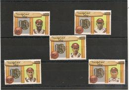 TRINITÉ Et TOBAGO  Joueurs De Cricket Célèbres Année 1988 N°Y/T : 589/593** Côte : 18,50 € - Trinité & Tobago (1962-...)