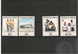 TRINITÉ Et TOBAGO Anniversaires  Année 1989 N°Y/T :627/630** - Trinité & Tobago (1962-...)