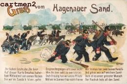 GRUSS VON HAGENAUER SAND PATRIOTISME KRIEG DEUTSCHLAND GERMANY GUERRE CARICATURE MILITARY ALSACE - Humor