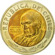 Monnaie, Chile, Cardinal Raul Silva Henriquez, 500 Pesos, 2008, Santiago, SUP - Chile