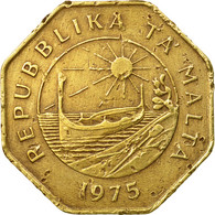 Monnaie, Malte, 1st Anniversary - Republic Of Malta, 25 Cents, 1975, TTB - Malte