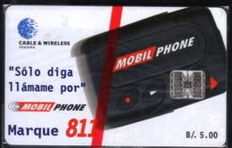 PAN-9 PANAMA PHONECARD C & W MOBIL PHONE 811 CHIP SC7 MINT  B/5.00 - Panama