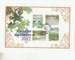 FRANCE 2012 BLOC SALON DU TIMBRE JARDINS DE FRANCE OBLITERE 1ER JOUR - BF132 - BF 132 - Sheetlets