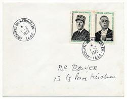 TAAF - Enveloppe Affr 50F + 100F Général De Gaulle - Archipel Des Kerguelen - 1.2.1972 - FDC