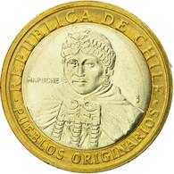 Monnaie, Chile, Cardinal Raul Silva Henriquez, 100 Pesos, 2006, Santiago, SUP - Chili