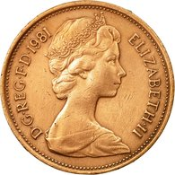 Monnaie, Grande-Bretagne, Elizabeth II, 2 New Pence, 1981, TTB, Bronze, KM:916 - 1902-1971 : Monnaies Post-Victoriennes