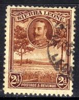 Sierra Leone 1932 KGV 2d Brown Rice Field SG 158 ( G1363 ) - Sierra Leone (...-1960)