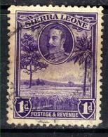 Sierra Leone 1932 KGV 1d Violet Rice Field SG 156 ( G1360 ) - Sierra Leone (...-1960)
