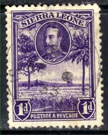 Sierra Leone 1932 KGV 1d Violet Rice Field SG 156 ( G1359 ) - Sierra Leone (...-1960)