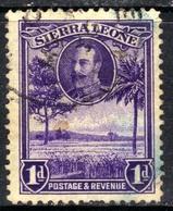 Sierra Leone 1932 KGV 1d Violet Rice Field SG 156 ( G1358 ) - Sierra Leone (...-1960)