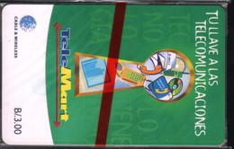 PAN-39 PANAMA PHONECARD C & W TELEMART 3 CHIP GEM3 MINT B/3.00 - Panama