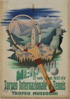 Italian Travel Postcard Merano Torneo Di Tennis Coppa Mussolini 1937 - Reproduction - Advertising