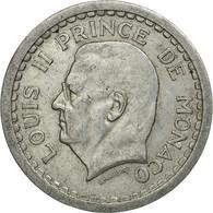 Monnaie, Monaco, Louis II, 2 Francs, 1943, Poissy, TB+, Aluminium, Gadoury:MC - Monaco