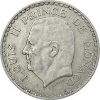 Monnaie, Monaco, Louis II, 5 Francs, 1945, Poissy, TTB, Aluminium - Monaco