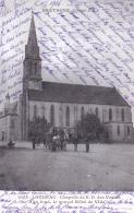 22 - Cotes D Armor -  LOUDEAC -  Chapelle De N D Des Vertus - Au Fond Le Nouvel Hotel De Ville - Loudéac