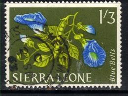 Sierra Leone 1963 QE2 1/-3d Flowers Blue Bells SG 250 ( G1348 ) - Sierra Leone (1961-...)