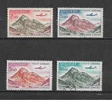 Timbres D'andorre De 1961/64  PA  N°5 A 8  Oblitérés - Poste Aérienne