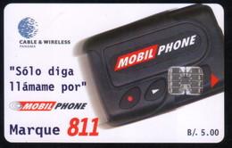 PAN-34 PANAMA PHONECARD C & W MOBILE PHONE 811 2 CHIP SC7 USED B/5.00 - Panama