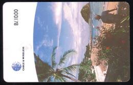 PAN-35 PANAMA PHONECARD C & W TABOGA ISLAND CHIP GEM3 USED B/10.00 - Panama