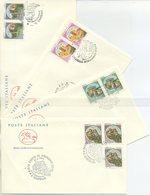 ITALIA - FDC  CAVALLINO 1994 - I CASTELLI - BOSA - BARI - CERRO AL VOLTURNO - MONDAVIO - ANNULLI SPECIALI - 6. 1946-.. Repubblica