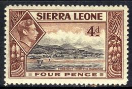 Sierra Leone 1938 KGV1 4d Black & Red Brown MM SG 193 ( G1344 ) - Sierra Leone (...-1960)
