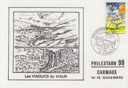 Carte  FRANCE    Les  Viaducs  Du  VIAUR    PHILEXTARN    CARMAUX   1998 - Ponts