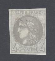 FRANCE 1870 CERES BORDEAUX 4c GREY Nº 41B - 1870 Bordeaux Printing