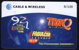 PAN-53 PANAMA PHONECARD C & W FM RADIOS OF PANAMA 1 CHIP SC7 USED B/5.00 - Panama