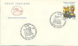ITALIA - FDC  CAVALLINO 1994 - TARQUINIA - LA PROCESSIONE - ANNULLO SPECIALE - 6. 1946-.. Repubblica