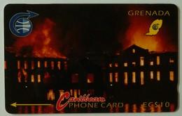 GRENADA - GRE-4A - GPT - 4CGRA - $10 - Financial Complex Fire - Used - Grenada