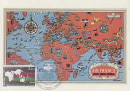 Carte  Maximum  1er  Jour    FRANCE   Centre  Des  Etudes  Sur  L' Afrique  Et  L' Asie  Modernes   1986 - Cartes-Maximum