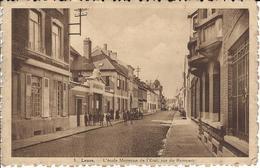 LEUZE En Hainaut - L'école Moyenne De L'état Rue Du Rempart (voyagé1945) - Leuze-en-Hainaut