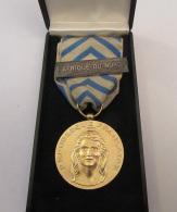Belle Médaille De Reconnaissance De La Nation Avec Agrafe Afrique Du Nord Dans Son écrin - Excellent état - France