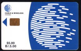 PAN-04 PANAMA PHONECARD C & W LOGO SECOND Issue CHIP GEM3 USED B/5.00 - Panama