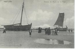 HEYST S/MER : Bateaux De Pêche Sur La Plage - RARE VARIANTE - Heist