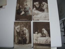 Lot De  4 Guerre 14.18 Theme Sante Infirmiere - Guerre 1914-18