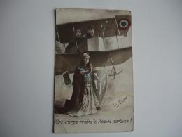 Guerre 14.18 Edi La Pensee Votre Energie Rendra La Victoire Certaine Avion Republique - Guerre 1914-18